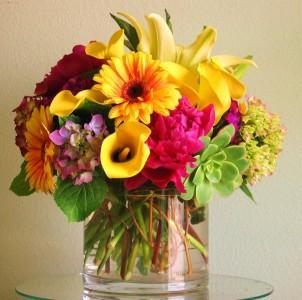 colorful arrangement  Vase arrangements