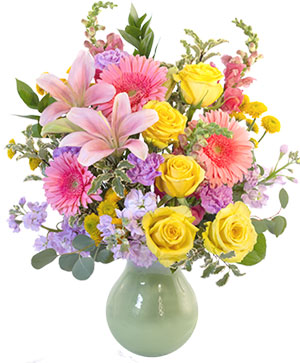 Colorful Array Flower Arrangement in Bridgeport, CT | Blossoming Blessings / Booth House Florist