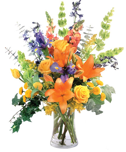 Colorful Balance Flower Arrangement In Catonsville Md Blue Iris