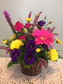 Colorful Basket Arrangment