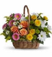 Colorful Basket Floral Bouquet