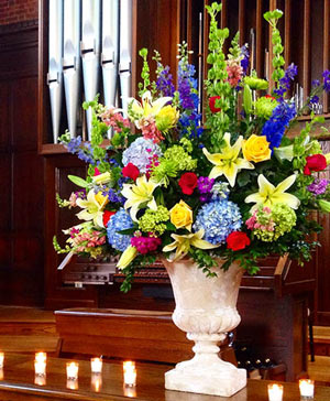Colorful Beauty Table Arrangement in Ozone Park, NY | Heavenly Florist