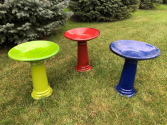 Colorful Bird Bath