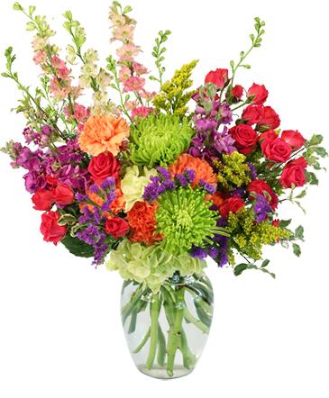 Colorful Blooms Flower Arrangement