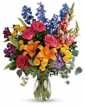 COLORFUL BLOOMS Vase Arrangement