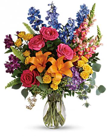 COLORFUL BLOOMS Vase Arrangement
