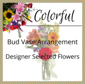 Colorful Bud Vase Arrangement