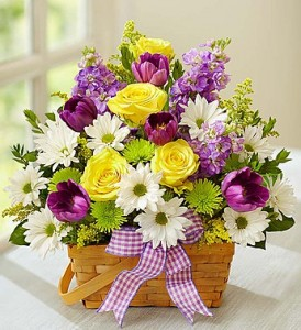 Colorful Cheer Basket  in Oakdale, NY | POSH FLORAL DESIGNS INC.