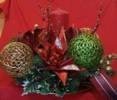 Colorful Christmas Centerpiece