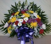 COLORFUL FAREWELL BASKET Sympathy Basket