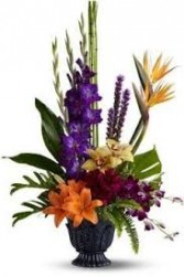 COLORFUL CONDOLENCES FUNERAL ARRANGEMENT