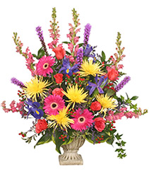 COLORFUL CONDOLENCES TRIBUTE  Funeral Flowers
