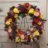 Colorful Country Sympathy Wreath