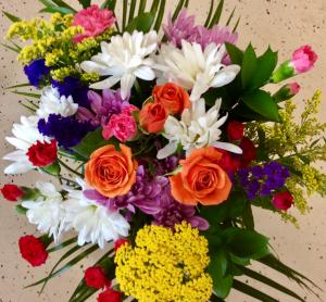 Colorful creation bouquet  Fresh Cut Flower Bouquet in Troy, MI | DELLA'S MAPLE LANE FLORIST