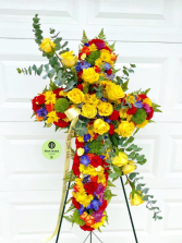 Colorful Cross standing spray