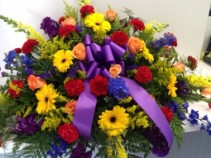 Colorful Elegance Casket Spray Casket Flowers