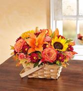 Colorful Fall Basket Arrangement