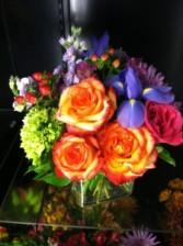 Colorful Florals Vase