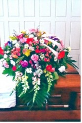 Colorful Garden Casket Spray s125