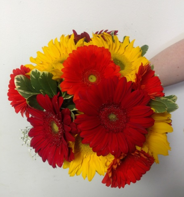 Colorful Gerbers Hand Tied Bouquet
