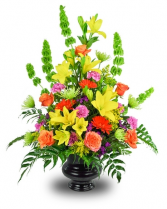 COLORFUL GOODBYE Sympathy Urn