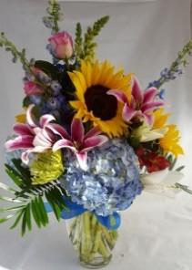Colorful Happy Days Vase