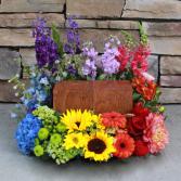 Colorful Life  Memorial Flowers