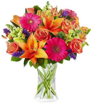 Colorful Love Fresh Vase in Fulton, NY | DeVine Designs
