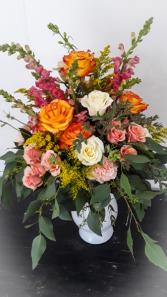 Colorful Lush vase arrangement