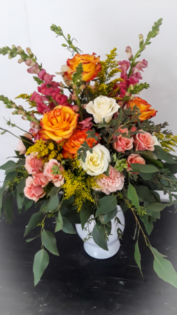 Colorful Lush vase arrangement