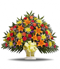 Colorful Memories Basket Arrangement