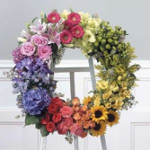 Colorful Memory Standing Wreath