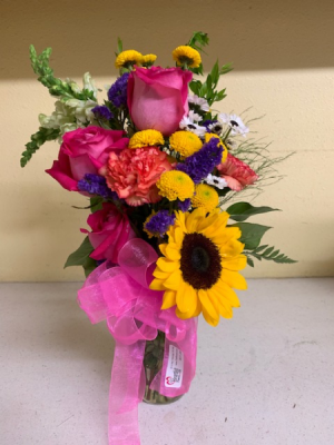 Colorful Mix Mix of beautiful flowers in Tishomingo, OK | Sara's Heartfelt Flowers & Gifts