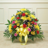 colorful mix  sympathy arrangement