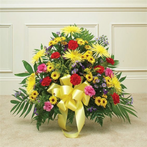 colorful mix  sympathy arrangement in Lebanon, NH | LEBANON GARDEN OF EDEN FLORAL SHOP