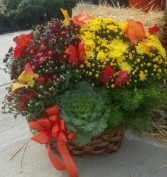 Colorful Mum Basket