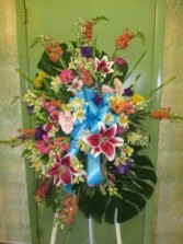 Colorful Rembrance  Standing Spray