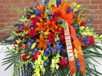 Colorful Remembrance casket cover