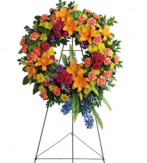 Colorful Serenity Wreath Standing Spray