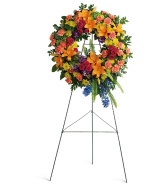 Colorful Serenity Wreath Teleflora Arrangement