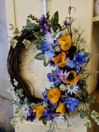Colorful  Silk Wreath