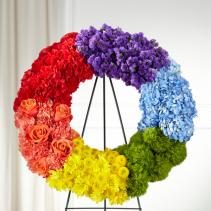 Colorful Soul Wreath Arrangement