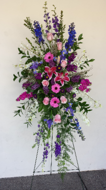 Colorful spray Funeral