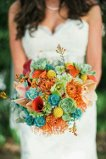 colorful spring Bridal garden aray of mixed