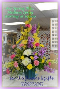 Colorful Spring Sympathy Spray
