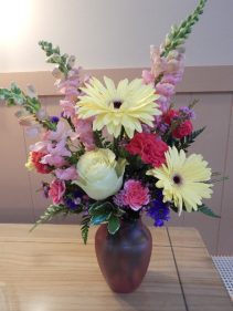Colorful Spring Vase Arrangement