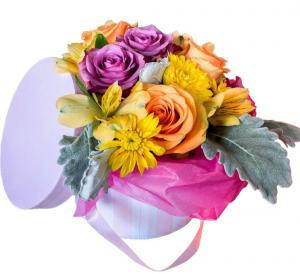 Colorful Surprise  Boxed Flowers Collection  in Biloxi, MS | Rose's Florist