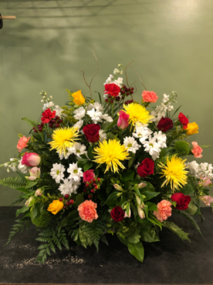 Colorful sympathy  Arrangement in Winnipeg, MB | CHARLESWOOD FLORISTS