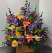 Colorful Sympathy Basket Sympathy