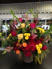 Colorful Sympathy Basket Fresh Arrangement